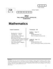 QATS Maths Trial 2012