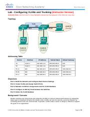 3.2.2.5 Lab - Configuring VLANs and Trunking - ILM.docx