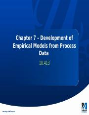 Chapter 7 - Empirical Models from Process Data.pptx