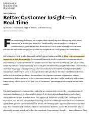 Better Customer Insight—in Real Time*