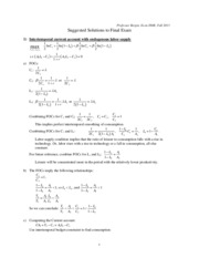 Final Exam Solutions Fall 2013