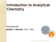 ChE- Introduction to Analytical Chemistry.ppt