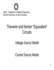 Norton and Thevinon Equivalent Circuits