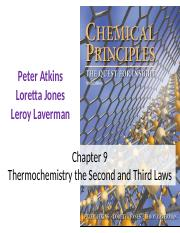 Chapter 9 -Thermochemistry the Second and Third Laws.pptx