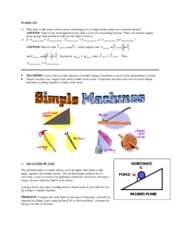SIMPLE MACHINES NOTE A