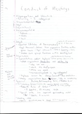 Conduct of Meetings Notes