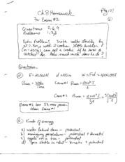 Chapter 8 Homework Solution for Exam 2