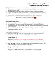 Chapter 8_Compa-ratio Assignment_Worksheet