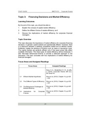 20140906053459_Topic 3 Financing Decisions and Market Efficiency