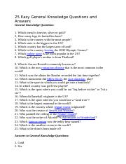 25 Easy General Knowledge Questions and Answers.docx