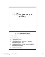 1.4 Price changes  welfare 2 slides per page