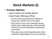 08. Stock Markets (I)