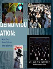 DEINDIVIDUATION powerpoint