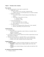 09-22-11 Biology Chapter Two Notes