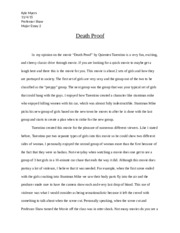 Death Proof Major Paper 2