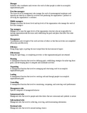 Chapter 1 Vocab Principles of Management