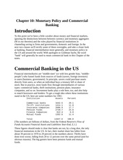 Monetary Policy and Commercial Banking, Monetary Aggregates, Model of a Banking System, Federal Rese