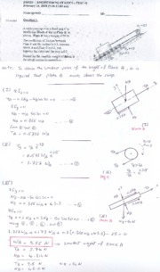Statics Term Test 2 Feb 2008