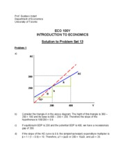 Solution to Problem Set 13 (ECO100)