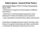robert agnew general strain theory