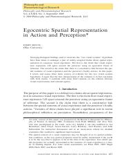 BRISCOE - 2009 - Egocentric Spatial Representation in Action and Perception