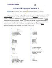 Advanced Paragraph Correction 6 - englishforeveryone.org ...