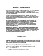 Expository Essay Guideline