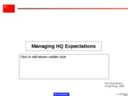 Managing HQ Expectations
