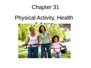 Chapter 31 Physical Activity Health Aging