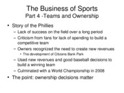 Section 4 - Teams and Ownership