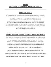 EWY3 Lect1 General Productivity.doc