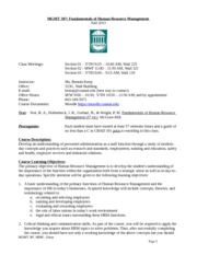 MGMT307_HRM_Syllabus_Fall 2013-1