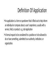 Definition Of Application.pptx
