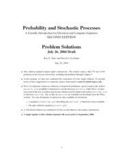 probability and stochastic processes second edition solution