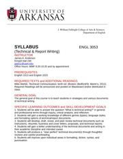 Spring 2013, ENGL 3053, Policies and Procedures