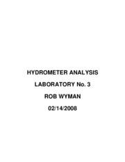 HYDROMETER ANALYSIS