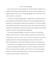 How To Essay - Learn Sign Language.docx