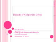 Assignment Decade of Corporate Greed