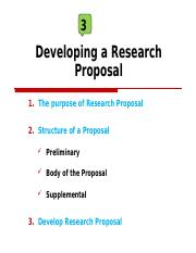 How To Develop A Research Proposal | 3 Research Proposal 1 Ppt 3 Developing A Research Proposal 1 The