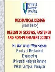 Lecture Note C03 - Chapter 8 - Design of Nonpermanent Joints.ppt