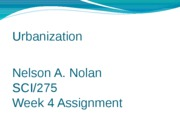 Week 4 Assignment Urbanization