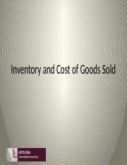 Class 4 Inventory and Cost of Goods Sold