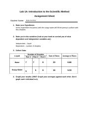 BIO 105 Lab 1A Assignment Sheet.docx