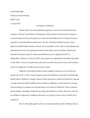 Medicare Research Paper