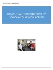 u10a1-Final Status Report-Hagood Patch Sastry.docx