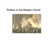 Lecture 2 - Politics in the Modern World
