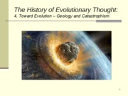 Lecture 14 Toward Evolution -Geology.Catastrophism
