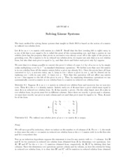 Lecture 8 Solving Linear Systems