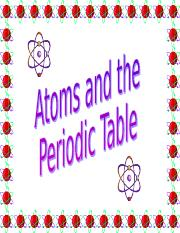 ATOMIC STRUCTURE AND PERIODIC TABLE.ppt