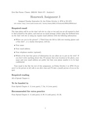 Mat 157- Homework Assignment 3